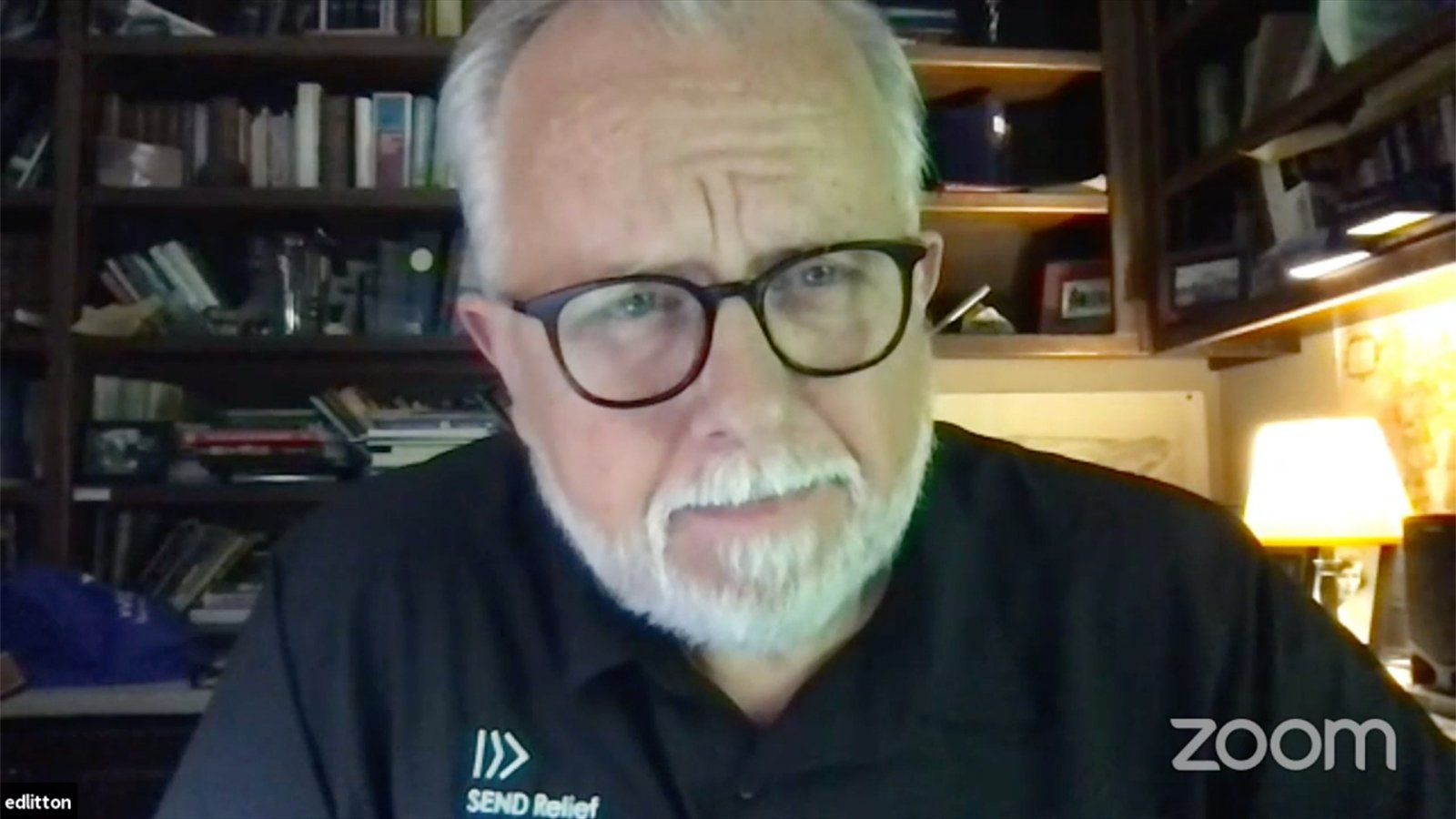 The Rev. Ed Litton, president of the Southern Baptist Convention, speaks during a virtual special meeting of the SBC Executive Committee, Tuesday, Oct. 5, 2021. Video screengrab