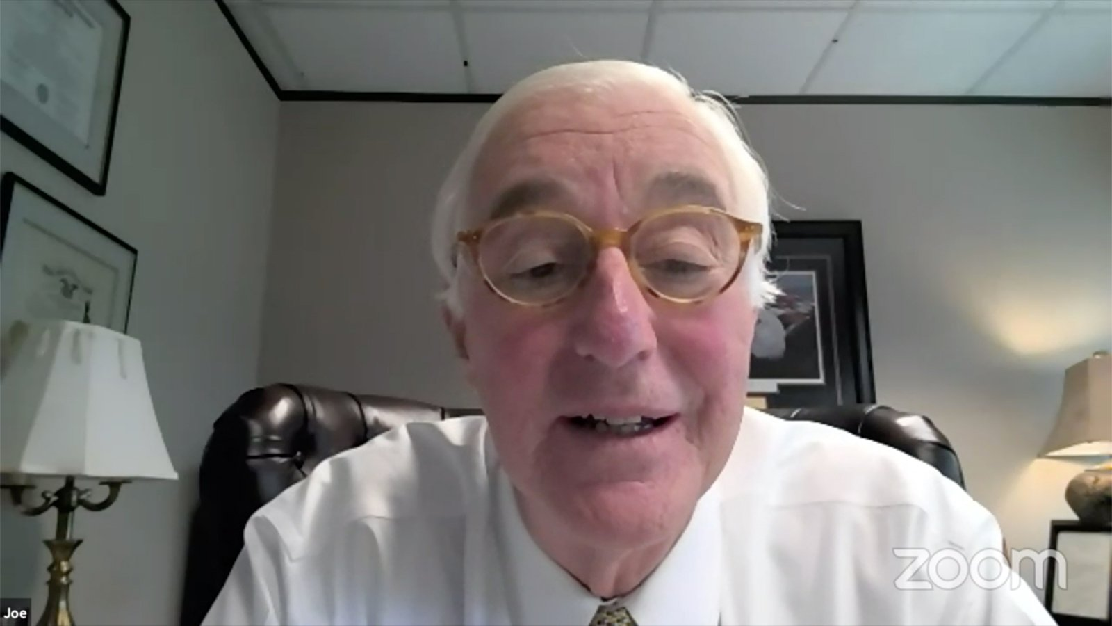 Joe Knott speaks during a virtual special meeting of the SBC Executive Committee, Tuesday, Oct. 5, 2021. Video screengrab