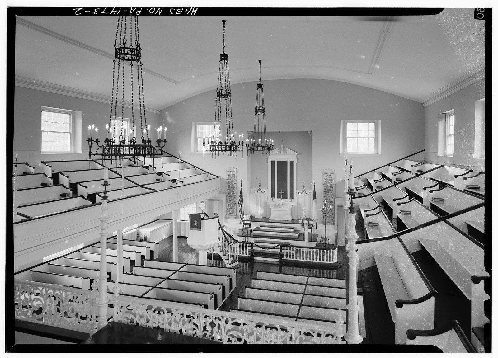Interior of Historic St. George's United Methodist Church in Philadelphia. Photo courtesy of LOC/Creative Commons