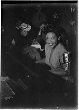 Pianist Mary Lou Williams plays at Café Society Downtown in New York, New York, circa June 1947. Photo by William P. Gottlieb/LOC/Creative Commons